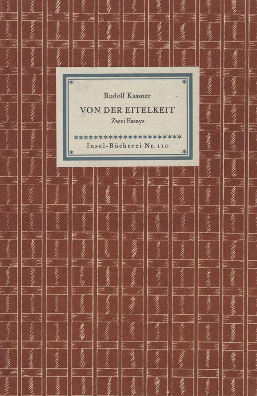 Go to Von der Eitelkeit: Zwei Essays item page