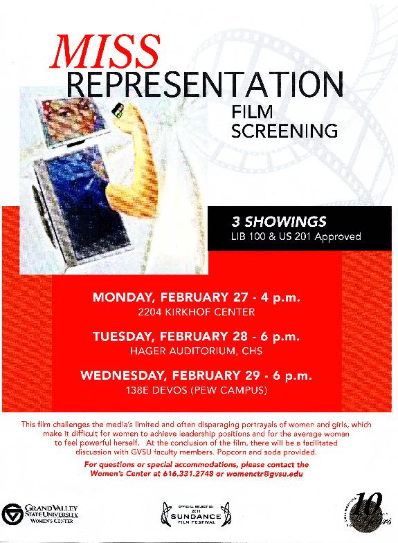 Go to Miss Representation Film Screening item page