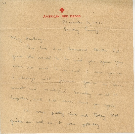 "Go to Letter to Jean Worthington by Edward ""Ned"" Manley, December 16, 1945. item page"