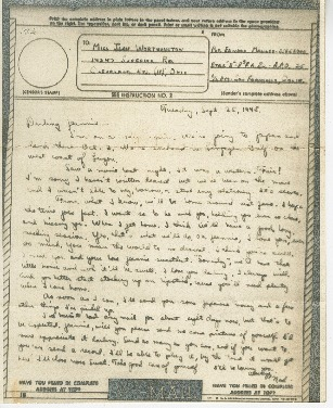 """Go to Letter to Jean Worthington by Edward """"Ned"""" Manley, September 25, 1945. item page"""