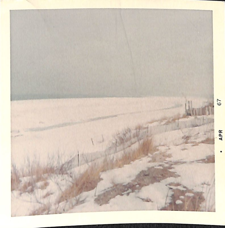 Go to Lake Michigan beach covered in snow item page