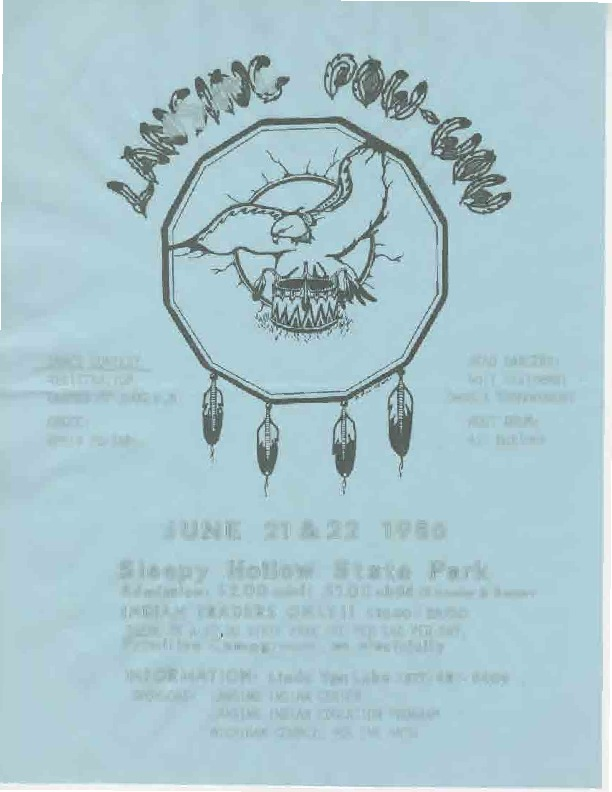 Go to Lansing Pow Wow, June 1986 item page