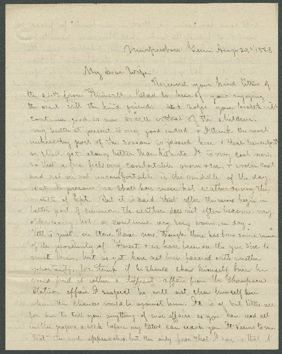 Go to John Bennitt to his wife [Letter 091] item page
