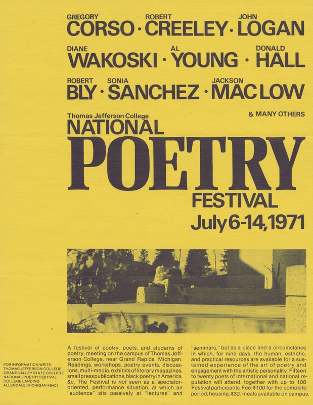 Go to National Poetry Festival, July 6-14, 1971 item page