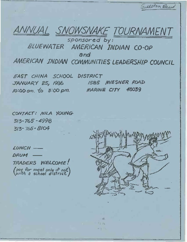 Go to Annual Snowsnake Tournament, January 1986 item page