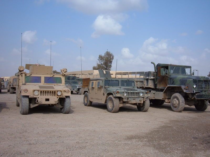 Go to Armored vehicles preparing for a convoy from FOB Q-West item page