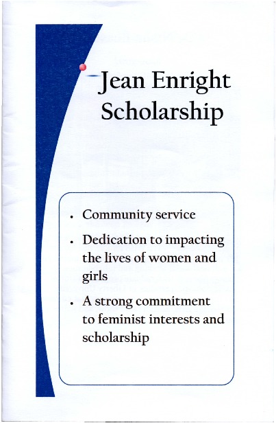 Go to A Celebration for the Jean Enright Scholarship item page