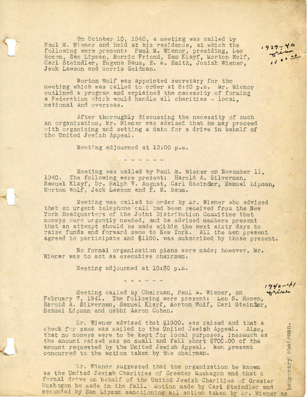 Go to Minutes, 1942-1943 item page