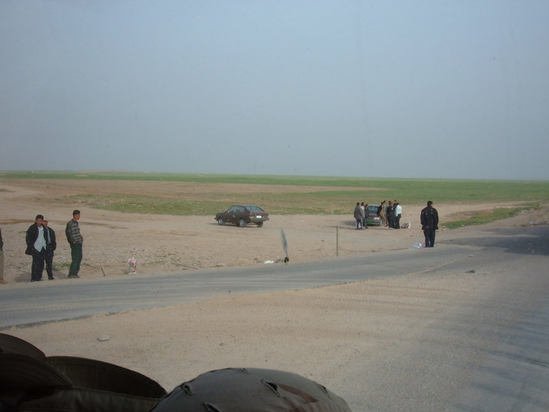 Go to Iraqi civilians looking for work just outside the gate of FOB Q-West item page