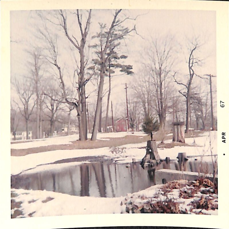 Go to Old Mill Pond surrounded by snow item page