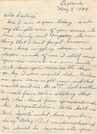 Go to Letter from Joe Olexa to Agnes Van Der Weide, May 8, 1944 item page