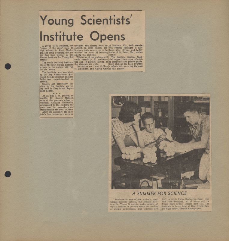 Go to Young scientists' institute opens item page