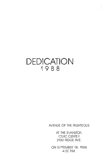 Go to Dedication, 1988 item page