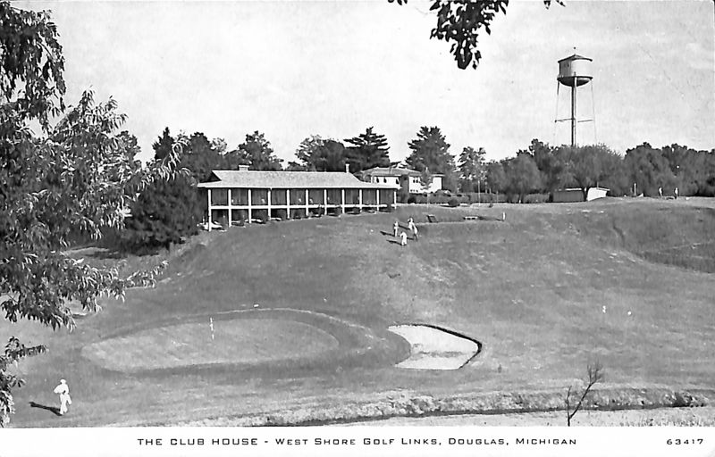Go to The Club House of West Shore Golf Links, Douglas, Mich. postcard item page