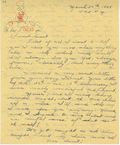 "Go to Letter to Edward ""Ned"" Manley by Jean Worthington, March 30, 1945. item page"