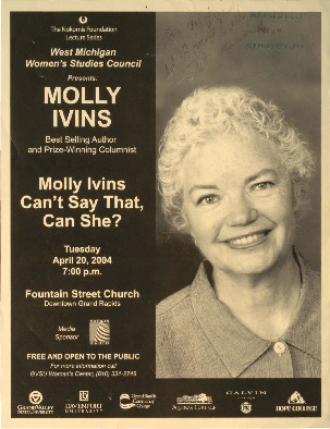 Go to Molly Ivins Can't Say That, Can She? item page