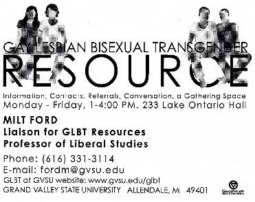 Go to Gay Lesbian Bisexual Transgender Resource  item page
