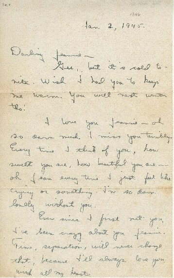 "Go to Letter to Jean Worthington by Edward ""Ned"" Manley, January 02, 1946. item page"