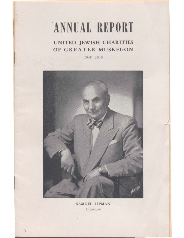 Go to B'nai Israel Temple Annual Report, 1948 item page