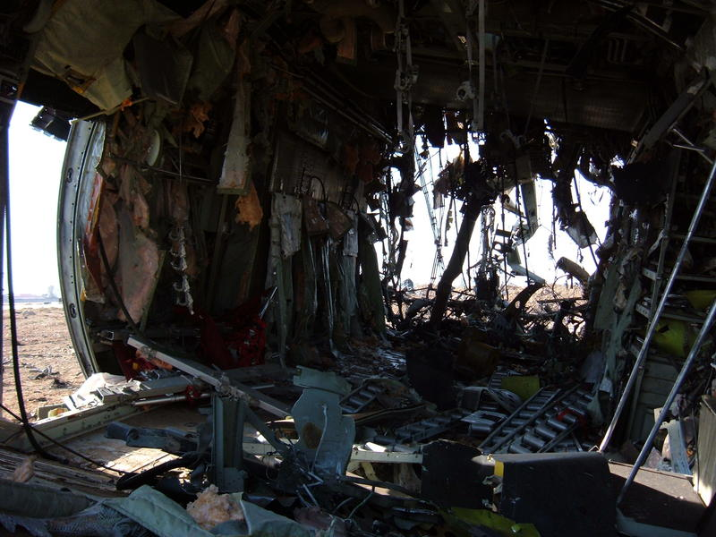 Go to Interior of the crashed S.F. C-130 item page