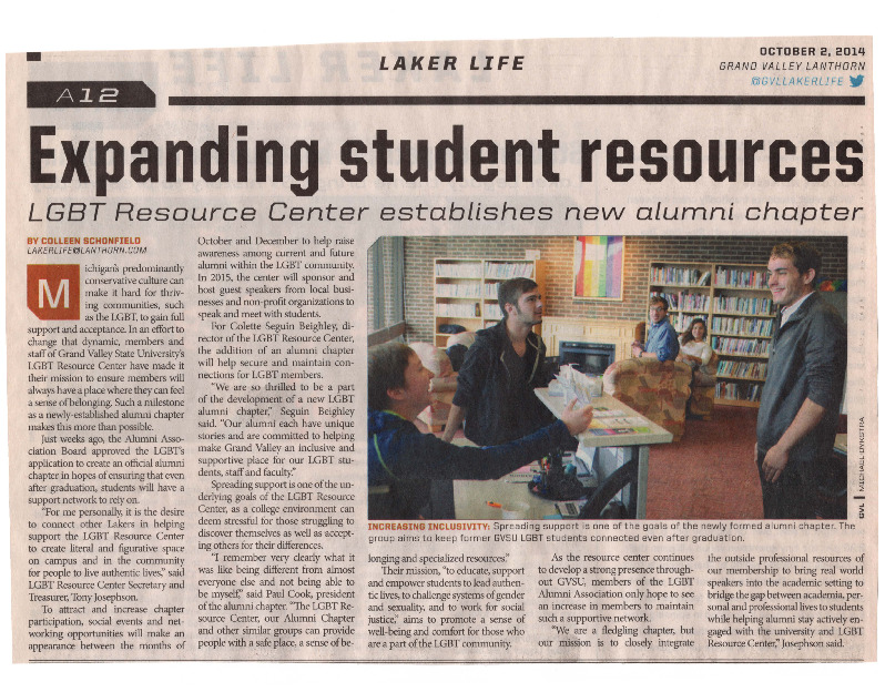 Go to Expanding student resources item page