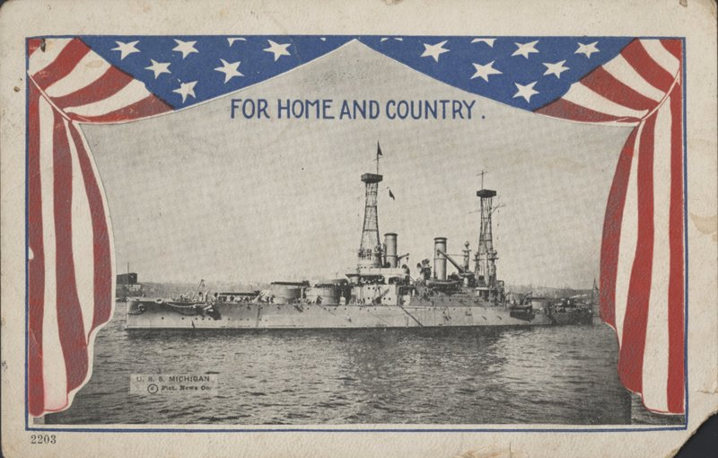 "U.S.S. Michigan, ""For Home and Country"""
