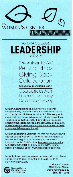 Go to Athena College Leadership Initiative item page