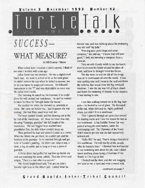 Go to Turtle Talk, Volume 3, December 1993 item page