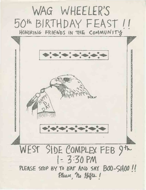Go to Wag Wheeler's 50th Birthday Feast,  February ???? item page