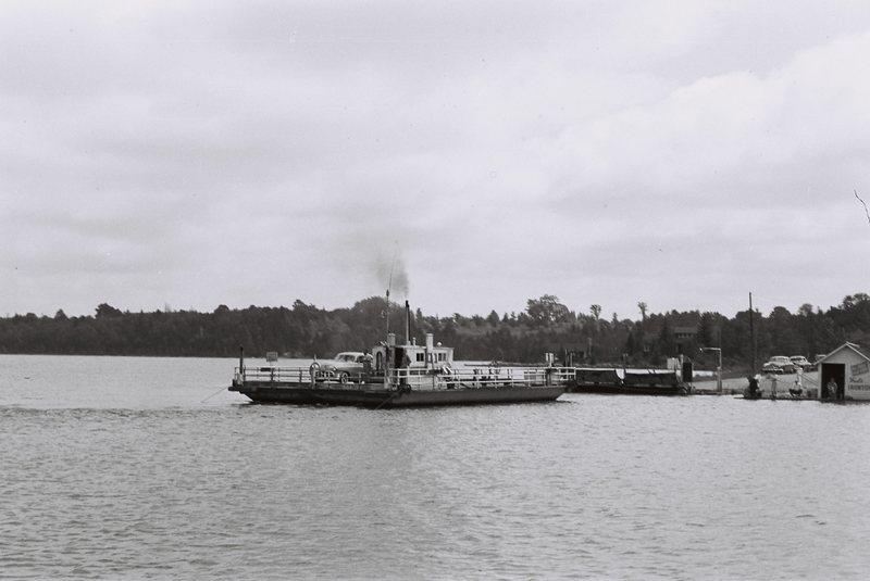 Michigan. Ironton ferry in Charlevoix