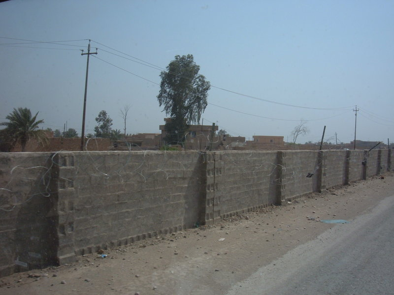 Go to Part of the Samarra bypass, a wall built around a hostile Iraqi town for protection of the convoys item page