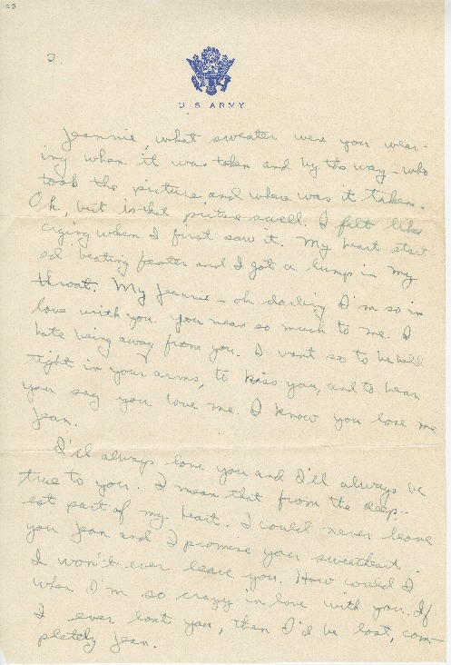 "Go to Letter to Jean Worthington by Edward ""Ned"" Manley, March 19, 1945. item page"