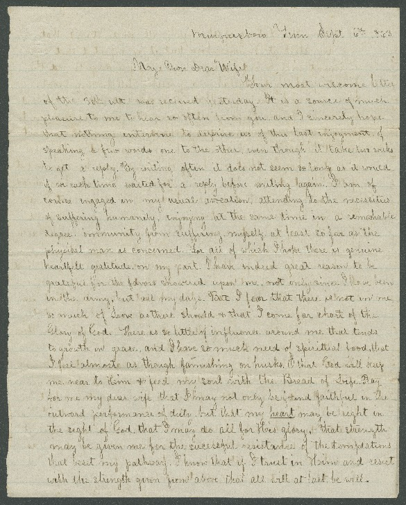 Go to John Bennitt to his wife [Letter 093] item page
