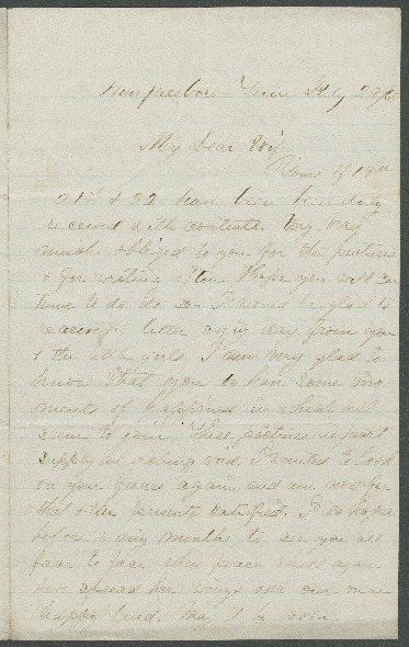 Go to John Bennitt to his wife [Letter 084] item page