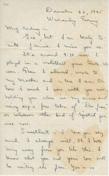 "Go to Letter to Jean Worthington by Edward ""Ned"" Manley, December 26, 1945. item page"