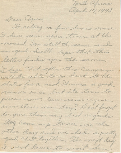 Browse the Joe Olexa letters collection