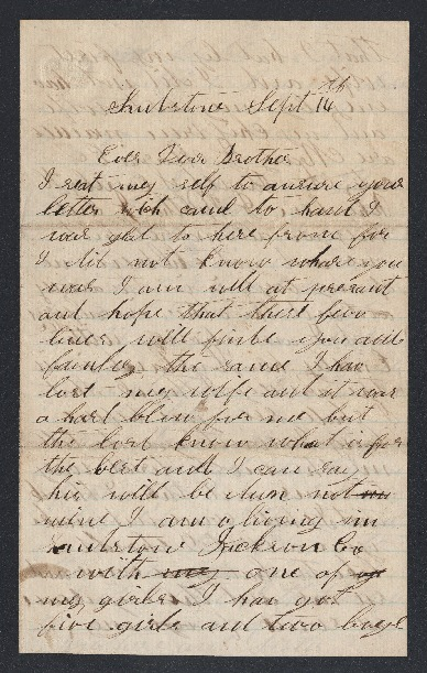 Go to Letter from D.S. Austin to his brother item page