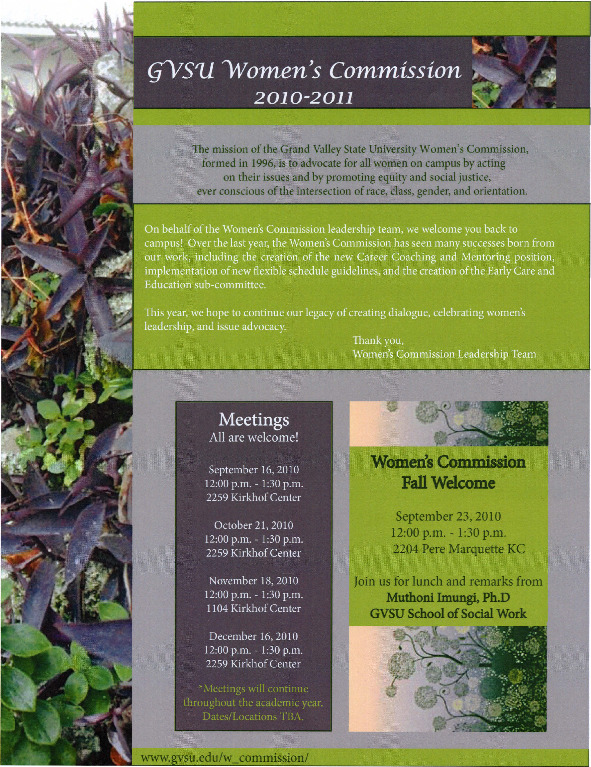 Go to GVSU Women's Commission 2010-2011 item page