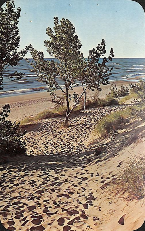 Go to Lake Michigan, Western Mich. postcard item page