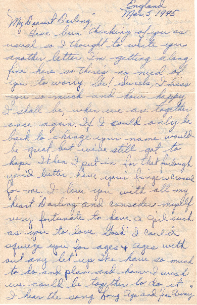 Go to Letter from Joe Olexa to Agnes Van Der Weide, March 5, 1945 item page