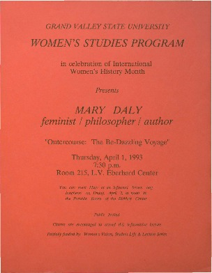 """Go to Mary Daly: """"Outercourse: The Be-Dazzling Voyage"""" item page"""