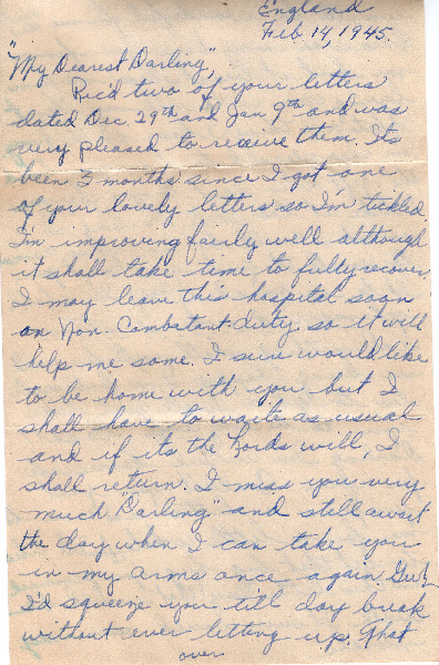 Go to Letter from Joe Olexa to Agnes Van Der Weide, February 14, 1945 item page