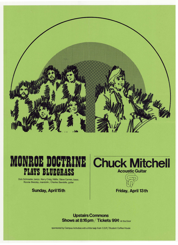 Go to Monroe Doctrine and Chuck Mitchell, April 13 and 15, 1973 item page