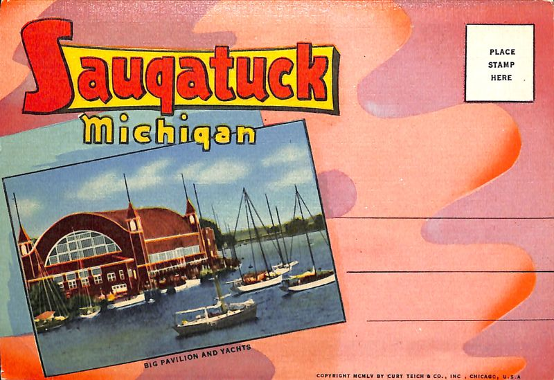 Go to Big Pavilion and Yachts of Saugatuck Postcard item page