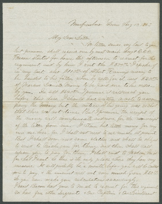 Go to John Bennitt to his wife [Letter 088] item page