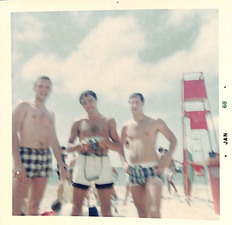Go to Three gentlemen at Oval Beach item page