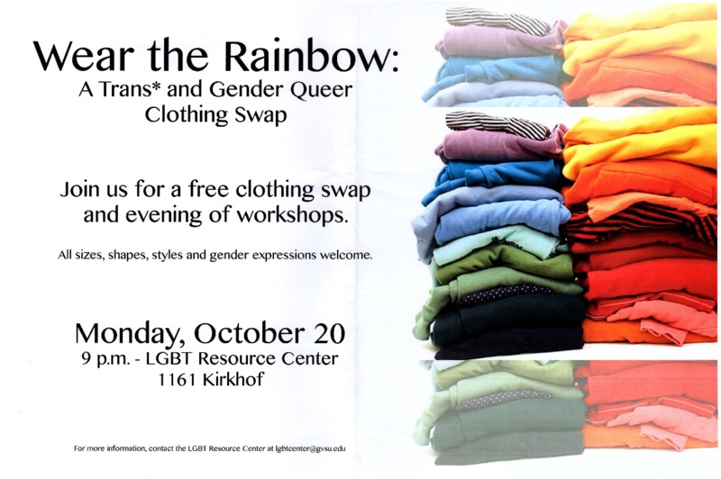 Go to Wear the Rainbow: A Trans* and Gender Queer Clothing Swap item page