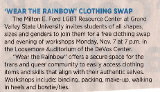 Go to Wear the Rainbow Clothing Swap item page