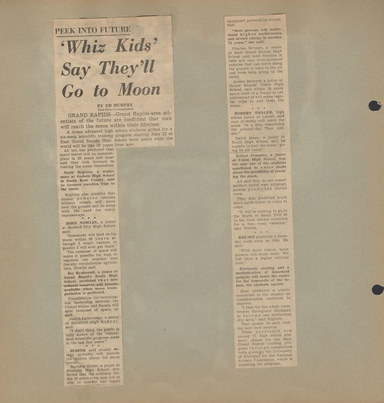 Go to Students predict that  Man will go to the moon item page