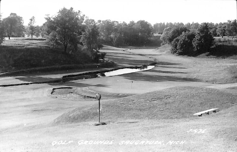 Go to Golf Grounds, Saugatuck, Mich. postcard item page